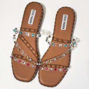Steve Madden Clear Skyler Sandals Size 8